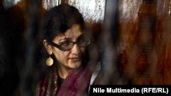 الناشطة السياسية المصرية منى سيف