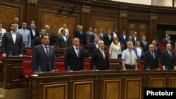Armenia - Deputies from the Republican Party of Armenia attend a parliament session in Yerevan, 10 September 2018.