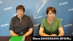 Слева направо: главный санитарный врач Сухума Алла Беляева и главный санитарный врач республики Людмила Скорик