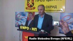 Ванчо Костовски, претседател на ВМРО-НП Охрид.