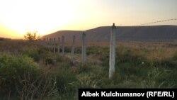 Pamje e rajonit Batken në kufirin ndërmjet Kirgizisë dhe Taxhikistanit