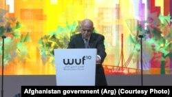 Predsjednik Ašraf Gani (Mohammad Ashraf Ghani) tokom govora na Svjetskom urbanom forumu, 09. februar 2020.