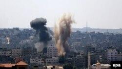 Газа в дни конфликта в начале августа 2014 г.
