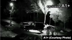 Արտապատկերում YouTube-ում տեղադրված տեսանյութից, որը նկարահանել է Սյունիքի նախկին մարզպետ Սուրիկ Խաչատրյանի տան առջևում տեղադրված տեսախցիկը, արխիվ