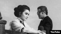 """Leyla Şıxlinskaya """"Gün keçdi"""" filmində. 1971"""