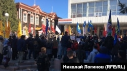 "Митинг ""За достойный транспорт"" в Томске"