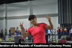 Зүлфия Чиншанло әлем чемпионатына дайындалып жүрген сәт. Ашғабат, 29 қазан 2018 жыл.