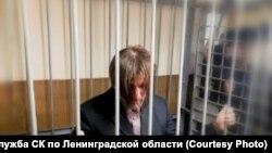 Андрей Бовт в Гатчинском городском суде на избрании меры пресечения