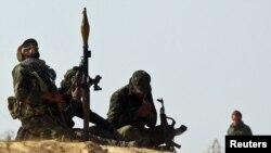 شورشیان لیبی در نزدیکی شهر اجدابیا