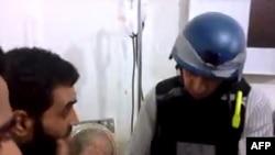 Инспекторите на ОН во предградието на Дамаск, 26.08.2013