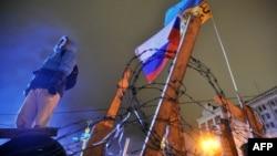 Одна з барикад Майдану в Києві, 17 січня 2014 року