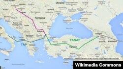TANAP-ի քարտեզը, արխիվ