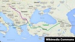 TANAP xəritəsi