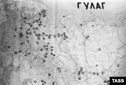 Карта лагерей ГУЛАГа.