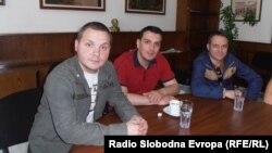 Александар Јовановиќ, Младен Давидовиќ и Зоран Ивановски се професори по фискултура.