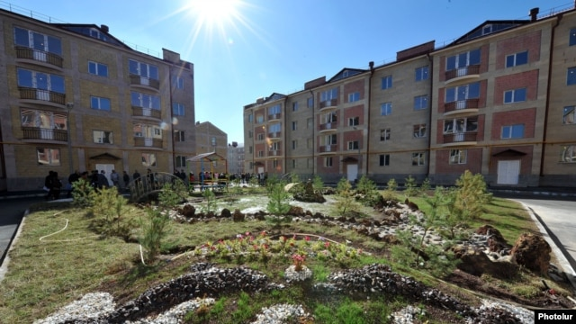 Armenia - Newly constructed apartment blocks in Gyumri, 15Oct2012.