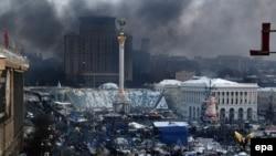 Київ, майдан Незалежності, січень 2014 року