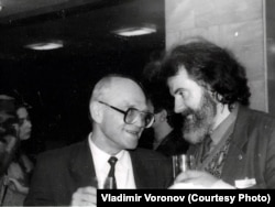 Химик-эколог Лев Фёдоров и Владимир Петренко. 1993 год