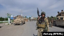 File photo of Afghan security forces in Kunduz