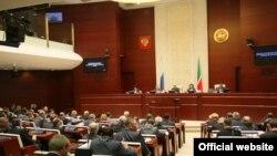 Татарстан парламентінің отырысынан көрініс. Қазан қаласы