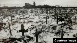 """Mormintele participanților la Greva de la Vorkuta, uciși în 1953. Expoziția """"Gulagul"""" de la Muzeul German de Istorie"""