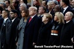 Liderët botërorë në ceremoninë e mbajtur në Paris
