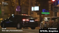 Журналісти помітили, як з підземного паркінгу офісного приміщення виїхала Toyota Camry