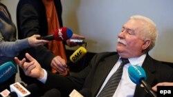 Лех Валенса на пресс-конференции в Гданьске, 29 февраля 2016 года