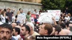 Протест в Грузии после приезда российского депутата