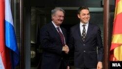 Средба на министрите за надворешни работи на Македонија и Луксембург, Никола Димитров и Жан Аселборн.