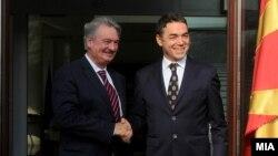 Шефот на луксембуршката дипломатија Жан Аселборн и неговиот македонски колега Никола Димитров