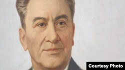 Dinmukhamed Kunaev, the first secretary of the Communist Party of Kazakhstan