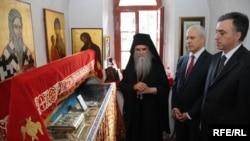 Mitropolit Amfilohije, Boris Tadić i Filip Vujanović