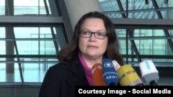 Andrea Nahles-Almaniya sosisl-demokrat partiyasının keçmiş lideri