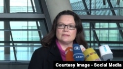 Lidera Partidului Social Democrat din Germania, Andrea Nahles, 2016