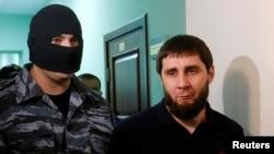 Заур Дадаев, обвиняемый по делу об убийстве Бориса Немцова. Москва, 3 октября 2016 года.
