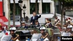 Франциянын жаңы президенти Эммануэл Макрон.