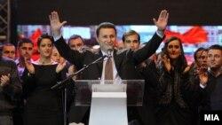 Архивска фотографија: Премиерот Никола Груевски се обраќа на прославата на 20-годишнината на УМС на ВМРО-ДПМНЕ во 2011 година.