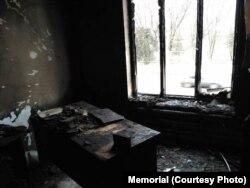 Пожар в офисе Мемориала