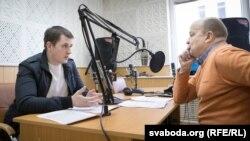 Цімох Акудовіч (зьлева) і Вячаслаў Ракіцкі