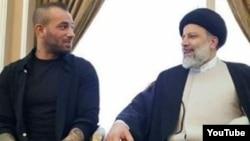 Tataloo(Under Ground Singer) Met Ibrahim Raisi , Conservative Candidate - Screenshot Youtube