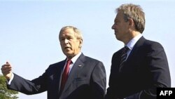 تونی بلر (راست) و جرج بوش