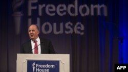 U.S. - Freedom House President Michael Abramowitz speaks at the Freedom House 2018 Annual Awards Dinner on May 23, 2018 in Washington.