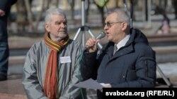 Уладзімер Юхо і Алесь Чахольскі