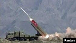 آزمایش موشک موسوم به نصر در پاکستان
