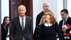 Външните министри на Холандия и България Стеф Блок и Екатерина Захариева