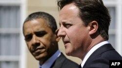 АҚШ Президенти Б.Обама (ч) ва Британия Бош вазири Д.Камерон.