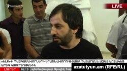 Арег Кюрегян в зале суда