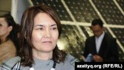 Директор департамента по возобновляемым источникам энергии министерства энергетики Айнур Соспанова. Астана, 10 июля 2015 года.