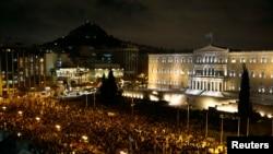 Afinada bu il fevralın 5-də parlament qarşısında nümayiş